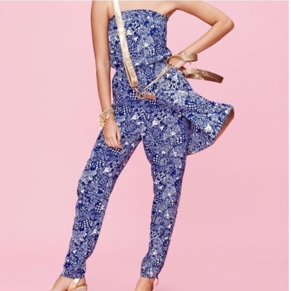 53f71d29a9954c Lilly Pulitzer for Target Pants - Lilly Pulitzer Upstream Blue & White  Jumpsuit